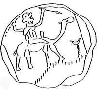 Aus: E.A. Knauf, Supplementa Ismaelitica 8. Philisto-arabische Münzen, BN 30 (l985), l9-28, 24; mit Dank an © Ernst Axel Knauf