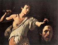 Abb. 1 David mit dem Kopf Goliats. Caravaggio (1606/07) stellt David als Straßenjungen dar und porträtiert in dem Gesicht Goliats sich selbst. In welcher Weise der Künstler damit sein Leben reflektiert, wird diskutiert.
