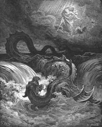 Abb. 9 Die Vernichtung des Leviatan (Gustave Doré, 1864).