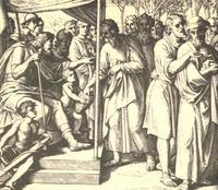 Abb. 4 Die Verlosung des Landes (Julius Schnorr von Carolsfeld; 19. Jh.).