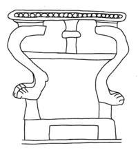 © Zeichnung E. Fischer; vgl. G. Herrmann, Ivories from Nimrud VI, London 2009, Taf. J oben