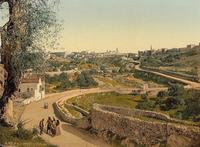 Abb. 2 Das Tal westlich der Stadt um 1890-1900, Blick nach Norden.