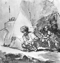Abb. 5 David verschont Saul (1Sam 24,3-14; Rembrandt van Rijn; um 1657-1660).