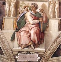 Abb. 1 Der Prophet Jesaja (Michelangelo, 1509).