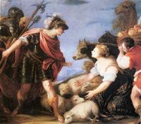 Abb. 2 Abigajil vor David (Juan Antonio de Frías y Escalante; ca. 1630-1670).