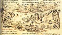 Abb. 1 Gott versorgt Tier und Mensch (Utrechter Psalter zu Ps 104; 9. Jh.).