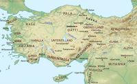 Aus: Wikimedia Commons; © Near_East_topographic_map-blank.svg: Sémhur; derivative work: Al-qamar, Wikimedia Commons, lizenziert unter Creative Commons-Lizenz, Attribution-Share Alike 3.0 unported; Zugriff 10.11.2020