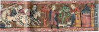 Abb. 7 Der Tod der bösen Königin Isebel (2Kön 9,30ff; aus einer Bible moralisée; 15. Jh.).