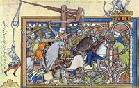 Abb. 3 Saul besiegt Nahasch und die Ammoniter (Maciejowski Bibel; 13. Jh.).