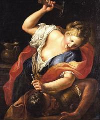 Abb. 3 Jael erweist Sisera Gastfreundschaft, tötet ihn dann aber (Gregorio Lazzarini; 1655-1730).