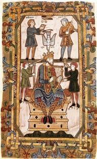 Abb. 1 König David (Tiberius Psalter, um 1050 n. Chr.).