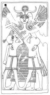 Aus: U. Winter, Frau und Göttin. Exegetische und ikonographische Studien zum weiblichen Gottesbild im Alten Israel und in dessen Umwelt (OBO 53), Freiburg (Schweiz) / Göttingen 1983, Abb. 409; © Stiftung BIBEL+ORIENT, Freiburg / Schweiz