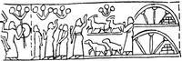 Aus: E. Unger, Obelisk des Königs Assurnasirpal I. aus Ninive, MAOG 6/1-2, Leipzig 1932, Taf. VIII