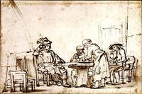 Abb. 3 Fürsorglich bewirtet die Frau von En-Dor Saul und seine Diener und bietet damit ein Vorbild der Gastfreundschaft (Rembrandt van Rijn, um 1657).